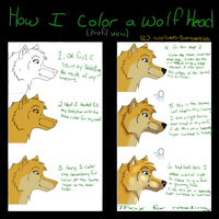 .:.How I Draw A Wolf Head.:. PRT 2 by Wolven-Sorceress