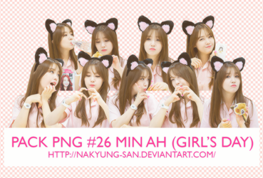 Pack PNG #26 MinAh (Girl's Day) by NaKyung-san