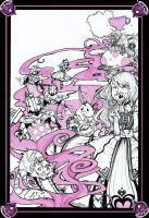 Alice in wonderland book cover by sophira-moonlily
