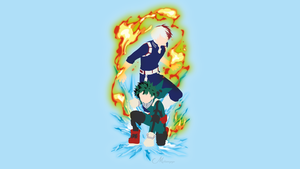 Midoriya and Todoroki Boku no Hero by matsumayu