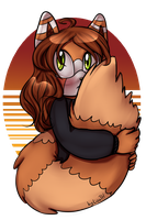 Fluffy red panda by lizathehedgehog