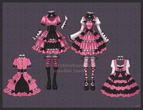 Gothic Lolita Designs by liveloveburndie