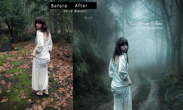 Carrie Ann Before and after by Hend-Watani