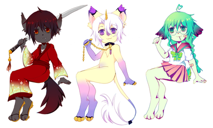 [OPEN] ADOPTS - Samurai left by l3ombyx