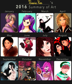 Art Summary 2016 by DrawWithNessie