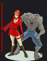 Red Riding Hood and Werewolf by Inspector97