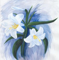 Easter Lilies by tyrowish
