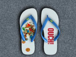 flip flop pin by Titareco