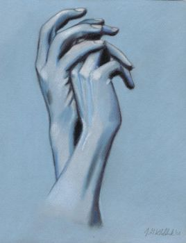 Hand Study in Blue by HoneyBean