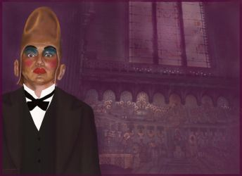Conehead at Fourviere Basilica by supremextreme