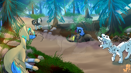 Sandy Forest Scene by JB-Pawstep