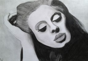 Adele ( CD cover ) by Katherine-The-Freak