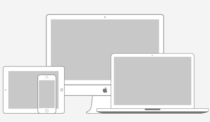 Apple Products Minimal Wireframe Kit (PSD) by softarea