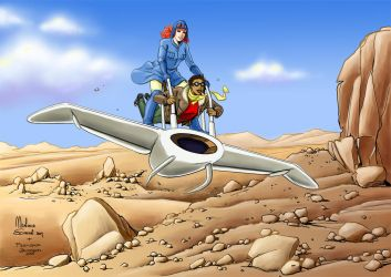 Nausicaa_and_Jenny_color by ManuelaSoriani