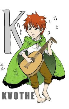 the Alphabet According to Fandom: K for Kvothe by rain-and-sunshine