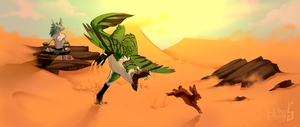 Too small to chase [Tribute of Galyx] by VireeArt