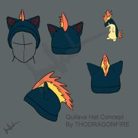 Quilava hat concept by Boarfeathers