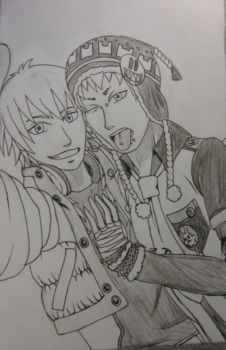 Aoba x Noiz Selfie by AndroidButterfly