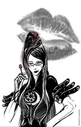 Bayonetta - Have you a fever? by Petitecreme