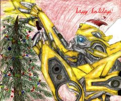 Christmas Bee by Bumblesz