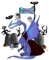 Frostclaws is Out to Spook! by WhispertheWolfie