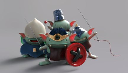 Zbrush Doodle Day 657 - Dragon Quest Conklave by UnexpectedToy