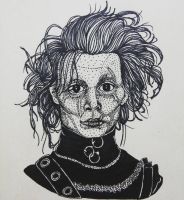 Inktober Day 28:  Edward Scissorhands by artifexToils