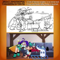 Mighty MagiSwords Storyboards - Slouch-butt by artbylukeski