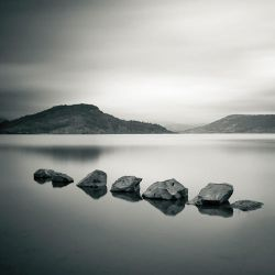 Little rocks in the lake by correiae