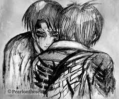 Attack on titan- Levi and Eren by Pearlonthesea