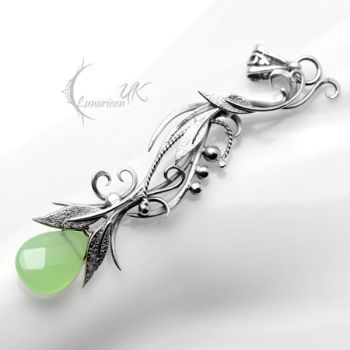 NYERTNERH - Silver and Green Chalcedony by LUNARIEEN