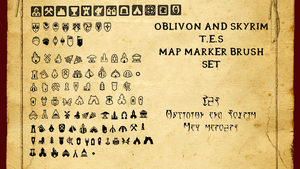 Oblivion and Skyrim Map Marker Brush Set by Iam4ever