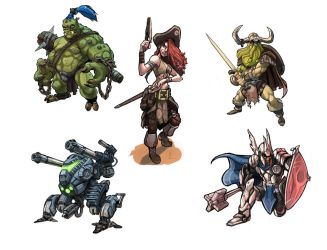 Miniatures concept art by SC4V3NG3R
