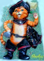 Puss in Boots Cake by 6eki
