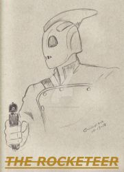 The Rocketeer with gun.. by gARY519mOORE