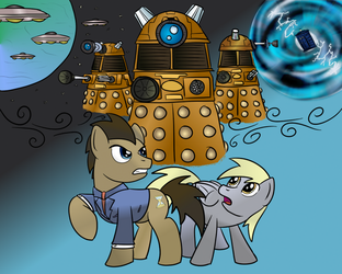 Doctor Whoof and the Daleks by DizzyPacce