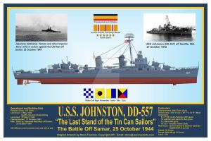 USS Johnston, DD-557 Print by sfreeman421
