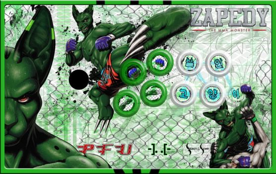 Zapedy Arcade Stick Art with Buttons by TEMPHUiBIS