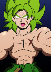 Legendary Super Saiyan Broly by fighterxaos