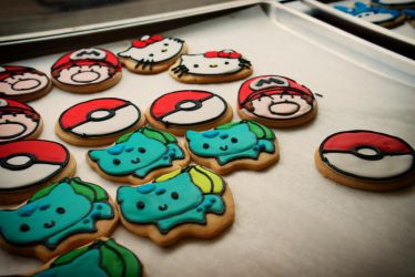 Nintendo cookies by aCreature