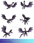 6 Purple Dragons Exclusive PNG by CelticStrm-Stock by CelticStrm-Stock