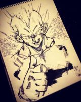 Vegeta the saiyan s prince by M4n1nm1rr0r
