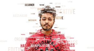 Transform a Face into a Typographic Portrait by hasshasib001