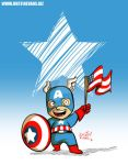 Happy 4th of July from Little Captain America