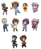 August 2012 Chibi Commissions by AlexisRoyce