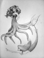 Octopus Mermaid by Laura2cute