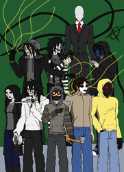 Creepypasta Group 1 by kairon92
