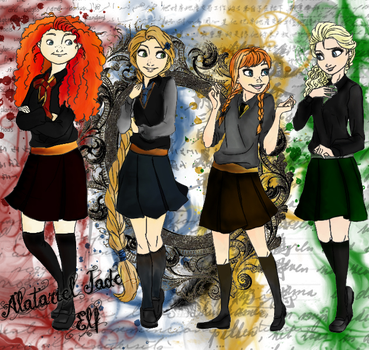 Hogwarts Princesses and Queen by Jade-Anne