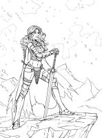 Red Sonja (Inks Only) by k1lleet