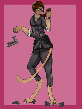 Cmsn: Claire Redfield Lioness TF by Kathalia